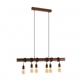 EGLO 49859 | Townshend-4 Eglo visilice svjetiljka 6x E27 braon antik