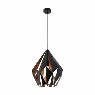 EGLO 49878 | Carlton-1 Eglo visilice svjetiljka 1x E27 crno, crveni bakar