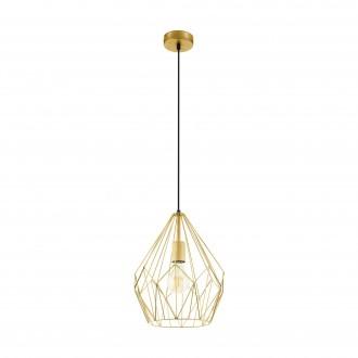 EGLO 49933 | Carlton Eglo visilice svjetiljka 1x E27 zlatno