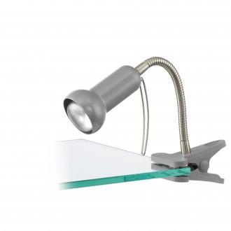 EGLO 81265 | Fabio Eglo svjetiljke sa štipaljkama svjetiljka sa prekidačem na kablu fleksibilna 1x E14 srebrno
