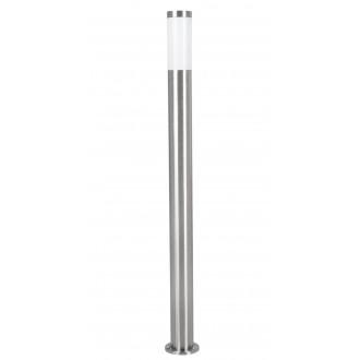 EGLO 81752 | Helsinki Eglo podna svjetiljka 110cm 1x E27 IP44 plemeniti čelik, čelik sivo, bijelo