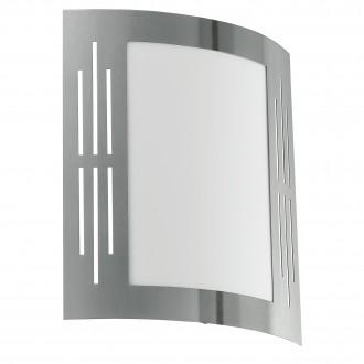 EGLO 82309 | City Eglo zidna svjetiljka 1x E27 IP44 plemeniti čelik, čelik sivo, bijelo