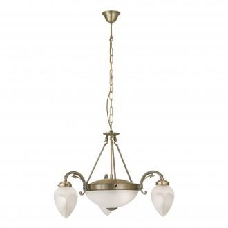 EGLO 82742 | Imperial Eglo luster svjetiljka 3x E14 + 2x E27 bronca, bijelo