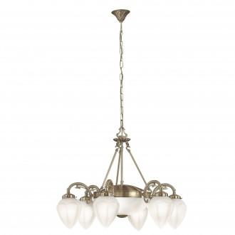 EGLO 82743 | Imperial Eglo luster svjetiljka 6x E14 + 2x E27 bronca, bijelo
