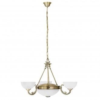EGLO 82748 | Savoy Eglo luster svjetiljka 3x E14 + 2x E27 bronca, bijelo