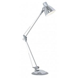 EGLO 82939 | Time Eglo stolna, sa navojem svjetiljka 82cm s prekidačem fleksibilna 1x E27 krom, srebrno