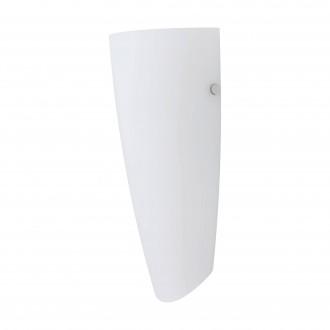 EGLO 83119 | Nemo Eglo zidna svjetiljka 1x E27 poniklano mat, bijelo, opal mat