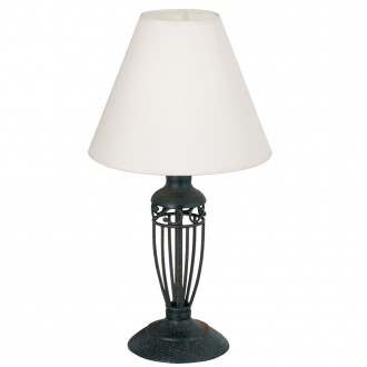 EGLO 83137 | Antica Eglo stolna svjetiljka 38,6cm sa prekidačem na kablu 1x E14 braon antik, bijelo