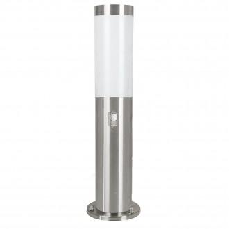 EGLO 83279 | Helsinki Eglo podna svjetiljka 45cm sa senzorom 1x E27 IP44 plemeniti čelik, čelik sivo, bijelo