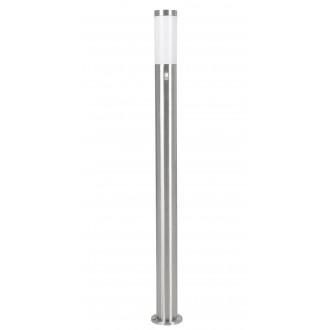 EGLO 83281 | Helsinki Eglo podna svjetiljka 110cm sa senzorom 1x E27 IP44 plemeniti čelik, čelik sivo, bijelo