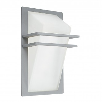 EGLO 83432 | Park Eglo zidna svjetiljka 1x E27 IP44 srebrno, saten