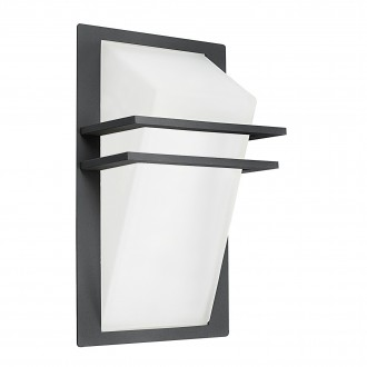 EGLO 83433 | Park Eglo zidna svjetiljka 1x E27 IP44 antracit, saten