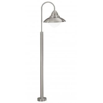 EGLO 83969 | Sidney Eglo podna svjetiljka 120cm 1x E27 IP44 plemeniti čelik, čelik sivo, saten
