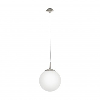 EGLO 85261 | Rondo Eglo visilice svjetiljka 1x E27 poniklano mat, opal mat