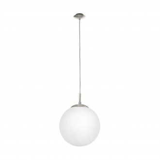 EGLO 85262 | Rondo Eglo visilice svjetiljka 1x E27 poniklano mat, opal mat
