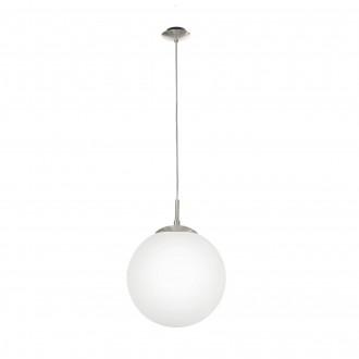 EGLO 85263 | Rondo Eglo visilice svjetiljka 1x E27 poniklano mat, opal mat