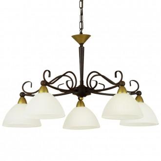 EGLO 85447 | Medici Eglo luster svjetiljka 5x E14 braon antik, bijelo