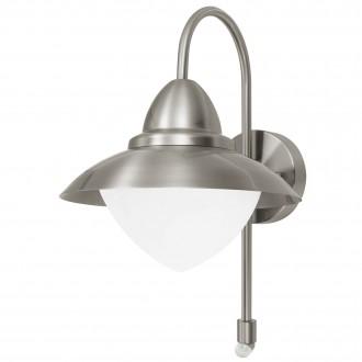 EGLO 87105 | Sidney Eglo zidna svjetiljka sa senzorom 1x E27 IP44 plemeniti čelik, čelik sivo, saten