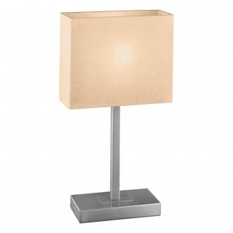 EGLO 87598 | Pueblo1 Eglo stolna svjetiljka 48cm sa dodirnim prekidačem 1x E14 poniklano mat, bijelo