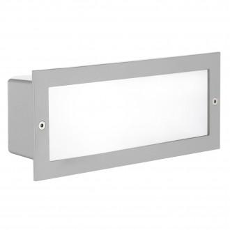 EGLO 88008 | Zimba Eglo ugradbena svjetiljka 243x101mm 1x E27 IP44 srebrno, saten
