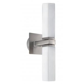 EGLO 88284 | Palermo Eglo zidna svjetiljka 2x G9 IP44 poniklano mat, opal mat