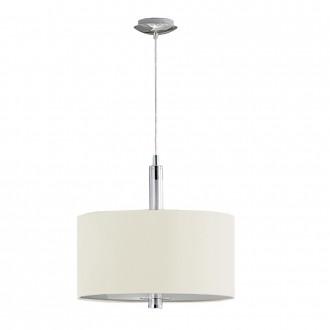 EGLO 88562 | Halva Eglo visilice svjetiljka sa tiristorski dodirnim prekidačem 3x E27 krom, bež