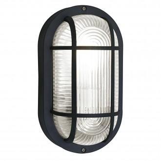 EGLO 88802 | Anola Eglo zidna, stropne svjetiljke svjetiljka 1x E27 IP44 crno, prozirno