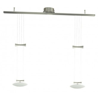 EGLO 89008 | Zeles Eglo visilice svjetiljka balansna - ravnotežna, sa visinskim podešavanjem 2x GY6.35 poniklano mat, opal mat