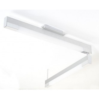 EGLO 89028 | Tramp2 Eglo stropne svjetiljke svjetiljka 2x G5 / T5 brušeni aluminij, bijelo