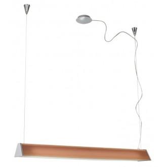 EGLO 89044 | Tramp1 Eglo visilice svjetiljka s podešavanjem visine 2x G5 / T5 krom, narančasto