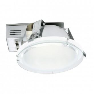 EGLO 89092 | Xara1 Eglo ugradbene svjetiljke - snažnozračne svjetiljke svjetiljka Ø220mm 2x G24q-2 / T2U/4P bijelo, saten