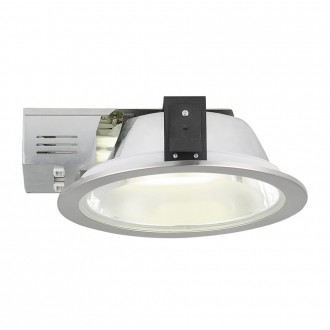 EGLO 89102 | Xara2 Eglo ugradbene svjetiljke - snažnozračne svjetiljke svjetiljka Ø235mm 2x G24q-3 / T2U/4P poniklana, saten