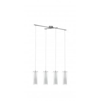 EGLO 89834 | Pinto Eglo visilice svjetiljka 4x E27 krom, bijelo, prozirno