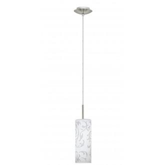 EGLO 90047 | Amadora Eglo visilice svjetiljka 1x E27 poniklano mat, bijelo