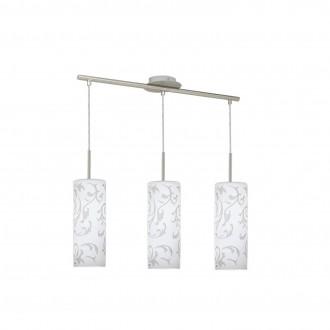 EGLO 90048   Amadora Eglo visilice svjetiljka 3x E27 poniklano mat, bijelo