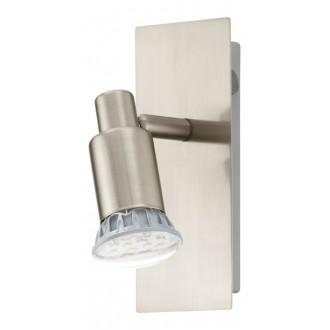 EGLO 90822   Eridan Eglo zidna svjetiljka s prekidačem elementi koji se mogu okretati 1x GU10 400lm 3000K poniklano mat