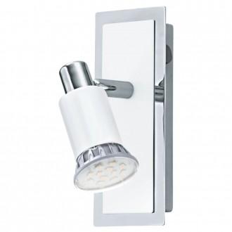 EGLO 90831   Eridan Eglo zidna svjetiljka s prekidačem elementi koji se mogu okretati 1x GU10 400lm 3000K krom, blistavo bijela