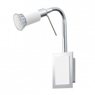 EGLO 90832   Eridan Eglo zidna svjetiljka sa prekidačem na kablu fleksibilna 1x GU10 400lm 3000K krom, blistavo bijela