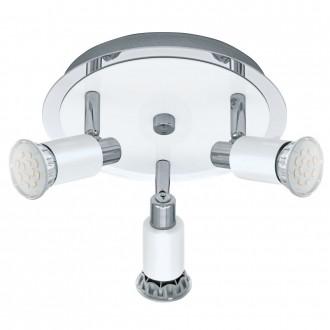EGLO 90837   Eridan Eglo zidna, stropne svjetiljke svjetiljka elementi koji se mogu okretati 3x GU10 1200lm 3000K krom, blistavo bijela