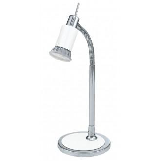 EGLO 90838   Eridan Eglo stolna svjetiljka 34cm sa prekidačem na kablu fleksibilna 1x GU10 400lm 3000K krom, blistavo bijela