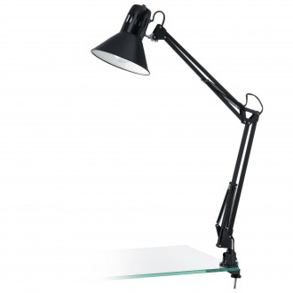 EGLO 90873 | Firmo Eglo sa navojem svjetiljka 95,5cm s prekidačem elementi koji se mogu okretati 1x E27 blistavo crna