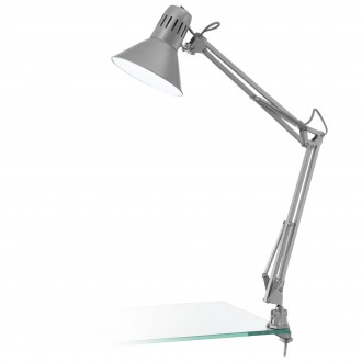 EGLO 90874 | Firmo Eglo sa navojem svjetiljka s prekidačem elementi koji se mogu okretati 1x E27 srebrno