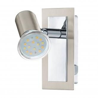 EGLO 90914   Rottelo Eglo zidna svjetiljka s prekidačem elementi koji se mogu okretati 1x GU10 400lm 3000K poniklano mat, krom