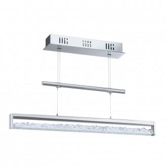 EGLO 90928 | Cardito Eglo visilice svjetiljka balansna - ravnotežna, sa visinskim podešavanjem 1x LED 1800lm 3000K krom, kristal