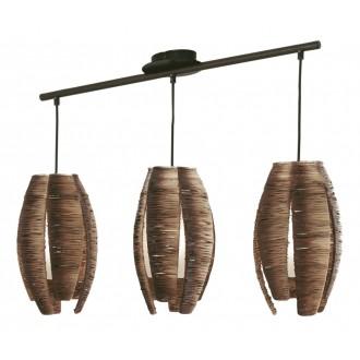 EGLO 91012 | Mongu Eglo visilice svjetiljka 3x E27 smeđe