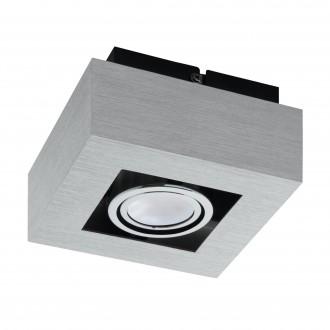 EGLO 91352   Loke1 Eglo zidna, stropne svjetiljke svjetiljka izvori svjetlosti koji se mogu okretati 1x GU10 400lm 3000K brušeni aluminij, crno