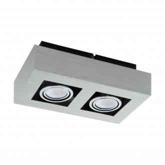 EGLO 91353   Loke1 Eglo zidna, stropne svjetiljke svjetiljka izvori svjetlosti koji se mogu okretati 2x GU10 800lm 3000K brušeni aluminij, crno