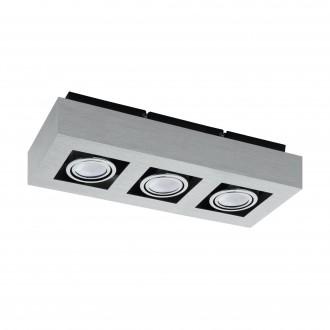 EGLO 91354   Loke1 Eglo zidna, stropne svjetiljke svjetiljka izvori svjetlosti koji se mogu okretati 3x GU10 1200lm 3000K brušeni aluminij, crno