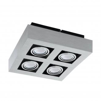 EGLO 91355   Loke1 Eglo zidna, stropne svjetiljke svjetiljka izvori svjetlosti koji se mogu okretati 4x GU10 1600lm 3000K brušeni aluminij, crno