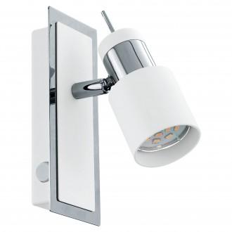 EGLO 92084   Davida Eglo zidna svjetiljka s prekidačem elementi koji se mogu okretati 1x GU10 400lm 3000K krom, bijelo